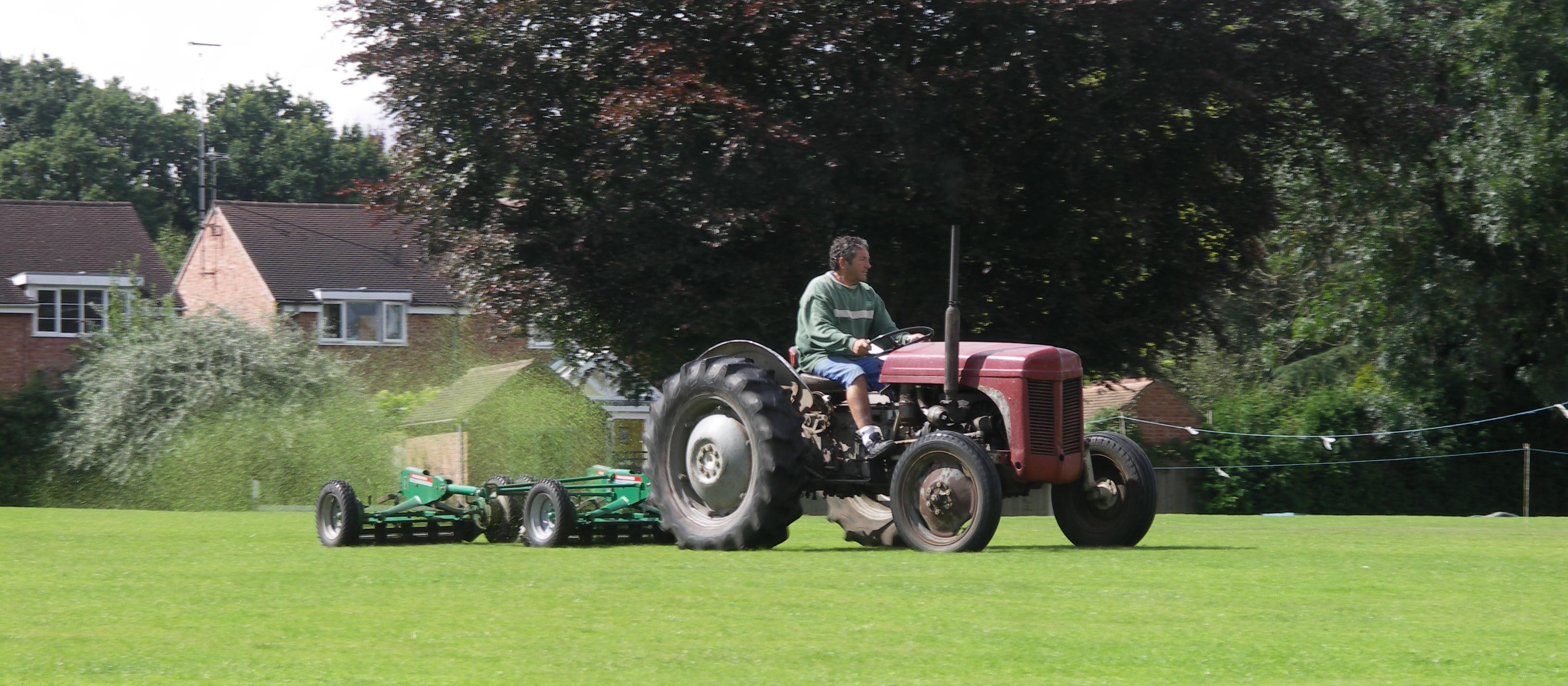 Mowing the Cricket Ground