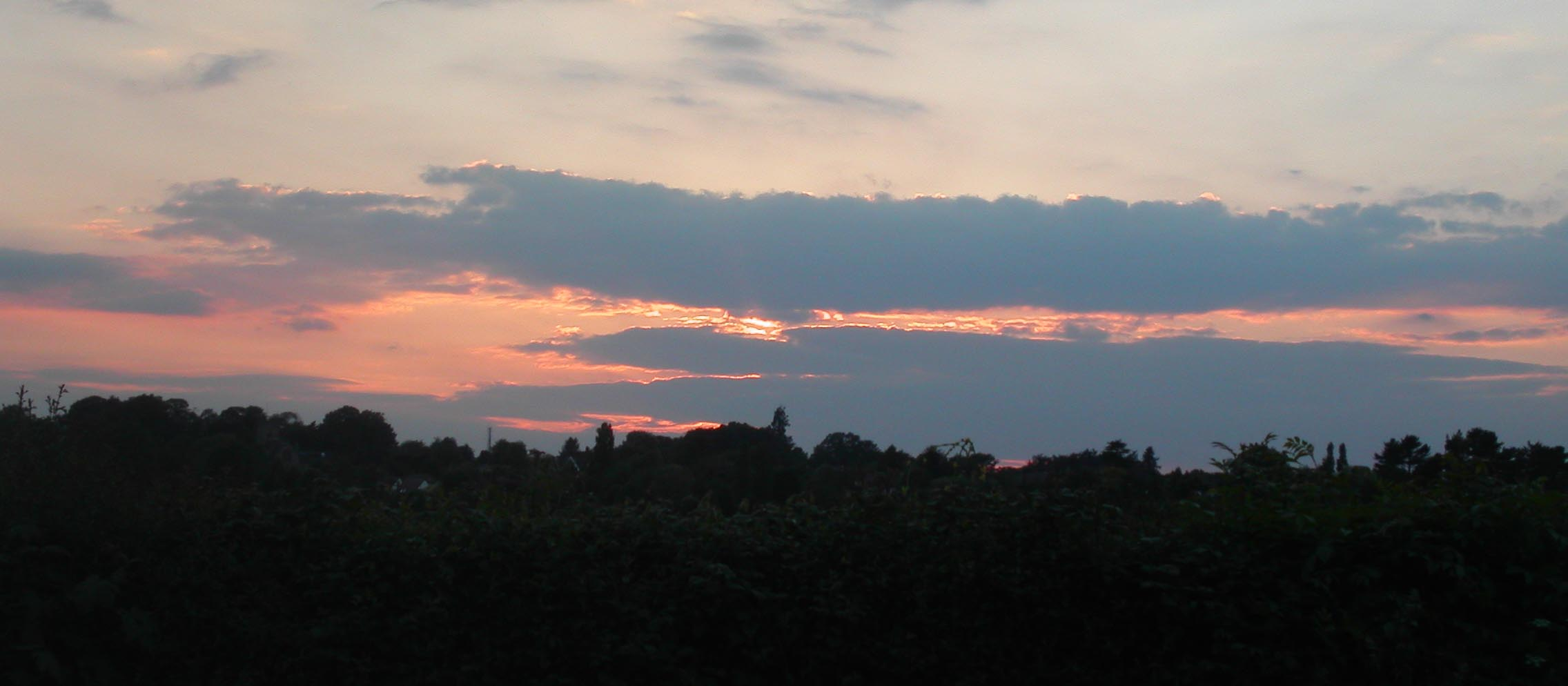 Sunset over Leek Wootton