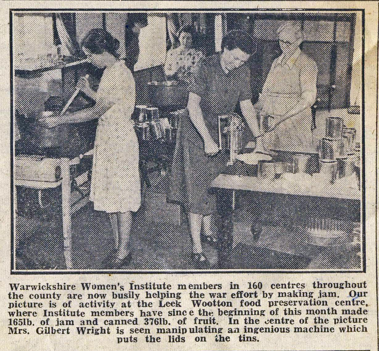Newspaper Cutting (WI Preservation Centre)