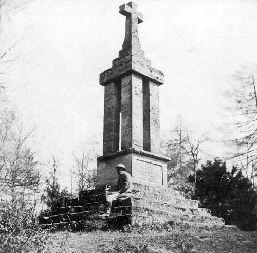 The Gaveston Monument, Guys Cliff, Warwick, 1870